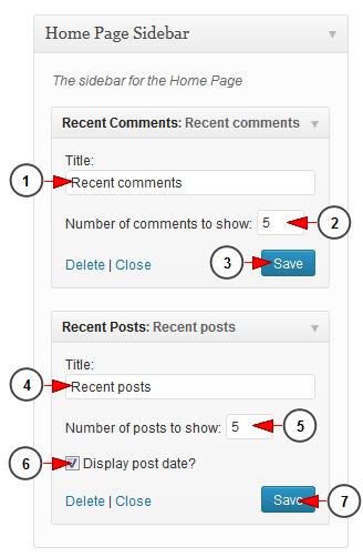 wordpress widget recent comments