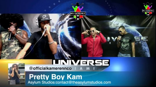 Pretty Boy Kam on the Mr.Incredibleshow