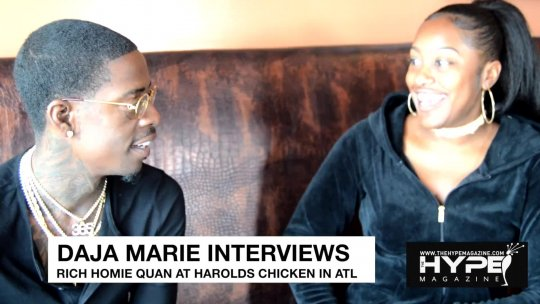 Daja Marie interviews Rich Homie Quan at Harold's Chicken in Atlanta