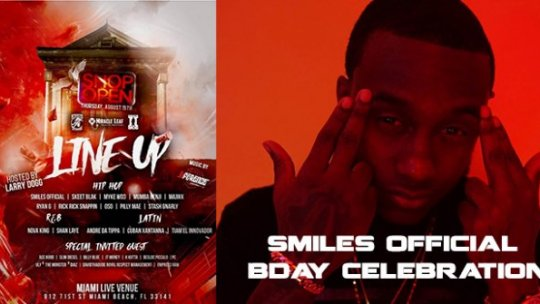 Shop Open | Smiles Official Birthday Celebration Live at Miami Live Pt 2