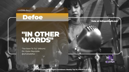 inDtv® Countdown Music Video | Defoe   IN OTHER WORDS